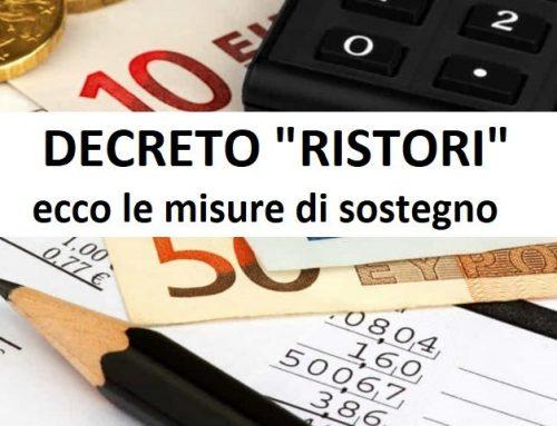 Pubblicato in Gazzetta Ufficiale il Decreto Ristori