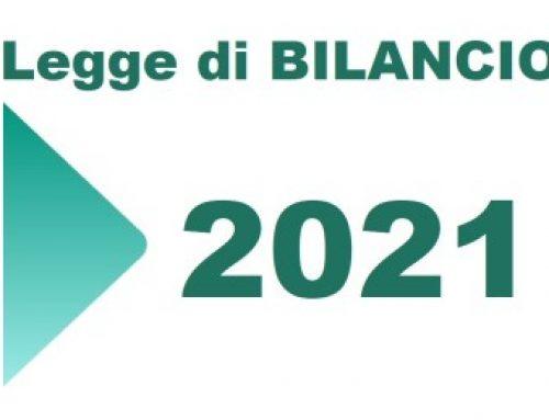 LEGGE DI BILANCIO 2021: TUTTI I PROVVEDIMENTI