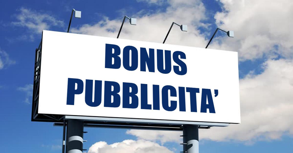 Bonus pubblicità 2021: presentazione delle domande al via